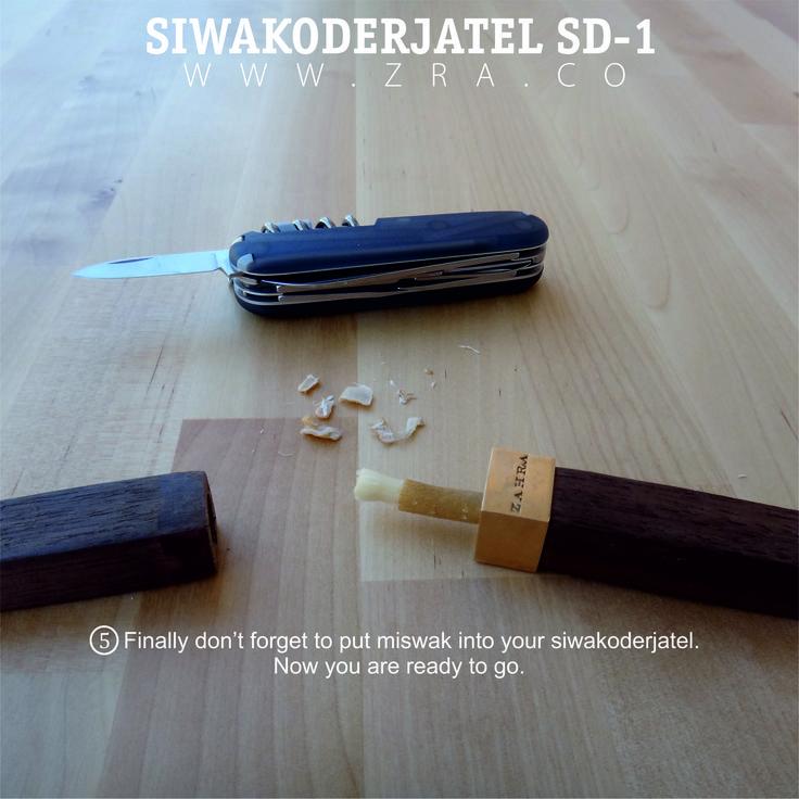 Guide on using miswak, #5. siwak, miswak, siwakoderjatel, miswakholder, sd-1, zahra, oralcare, organic tooth brush