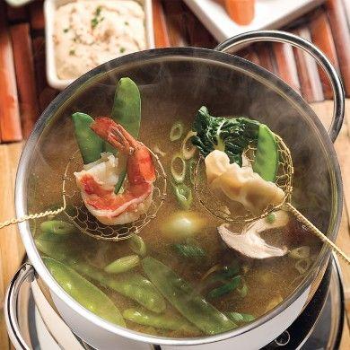Fondue à la japonaise - Recettes - Cuisine et nutrition - Pratico Pratique Feuertopf