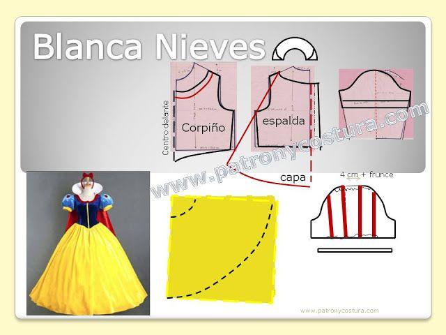 Blanca Nieves disfraz diy. Tema 201 (PATRÓN Y COSTURA) | accesorios ...