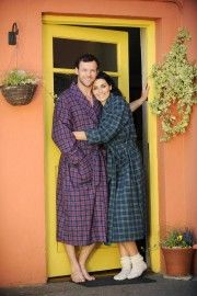 purple Tartan and Green Tartan Lee Valley Flannel Nightrobe