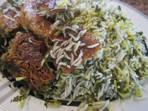 """Persian Herb Rice Kit - """"Sabzi Polo"""" For Persian New Year, Norouz"""