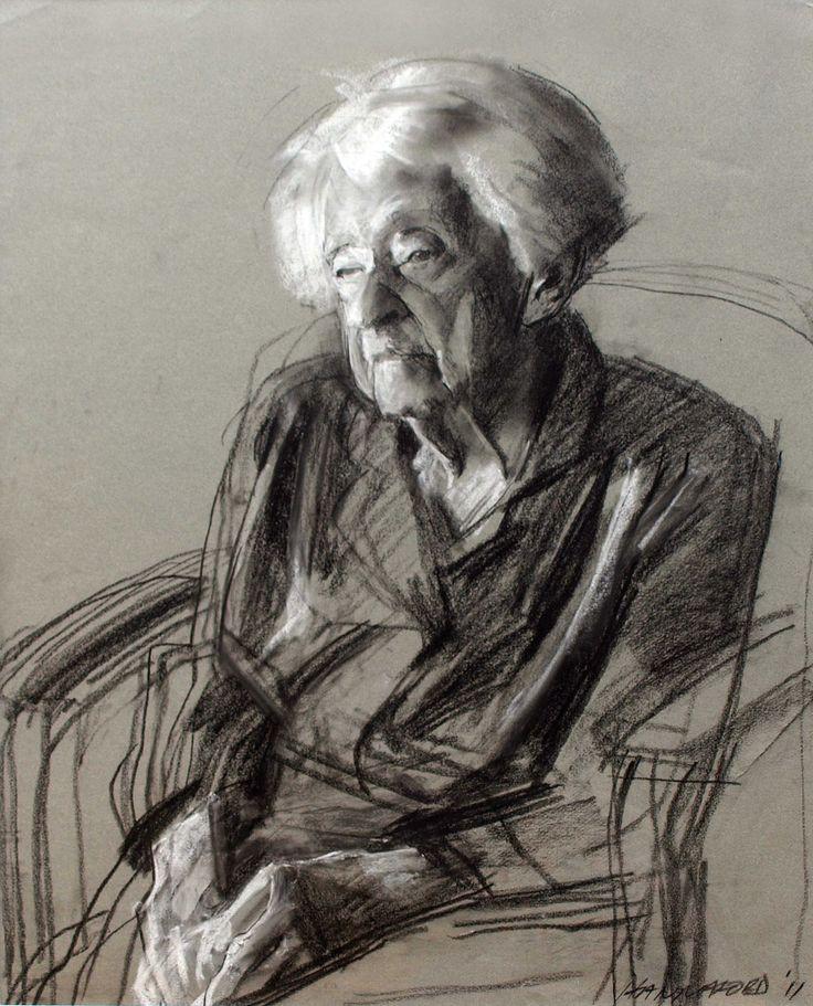 Robert Hannaford (1944 -      ) | 103-years-charcoal-2011