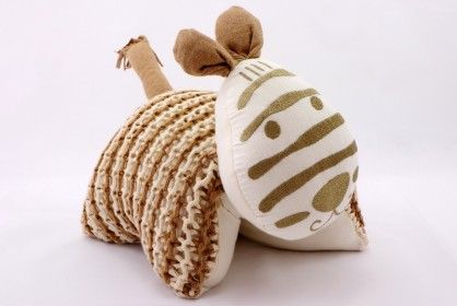 Knitted Zebra Cuddle Pillow Ivory  $ 49.77  http://www.vanillababy.com.au/shop/soft-toys/knitted-zebra-cuddle-pillow-ivory/
