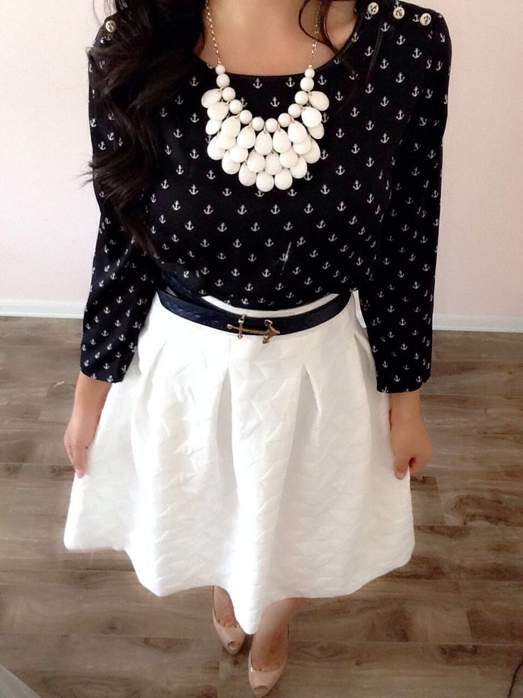 25+ best ideas about White skirts on Pinterest | Spring skirts outfits Meeting outfit and ...