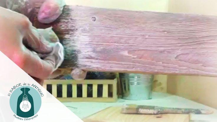 Taller de pátinas acrílicas   El Sabor de lo Antiguo