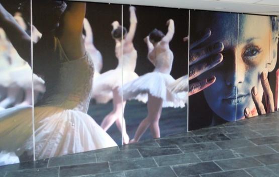 Rabo theater (project) Ontwerp + uitvoering wand + tegelvloer door Liberty Lifestyle