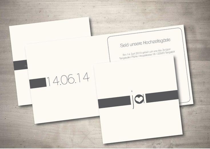 schlichte einladungskarten hochzeit – kathyprice, Einladungsentwurf