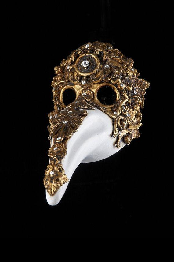 Venetian Mask Diamond Plague Doctor by OriginalVeniceShop on Etsy