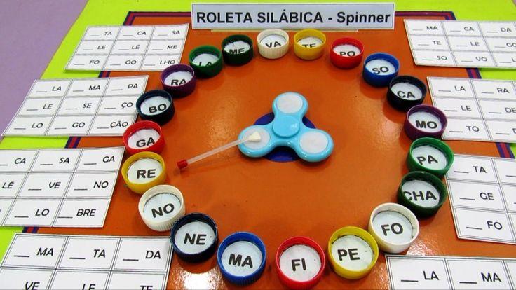 Conheça nesta postagem a Roleta Silábica com Spinner: Jogo para alfabetização, proposta que também faz parte de um bingo silábico.
