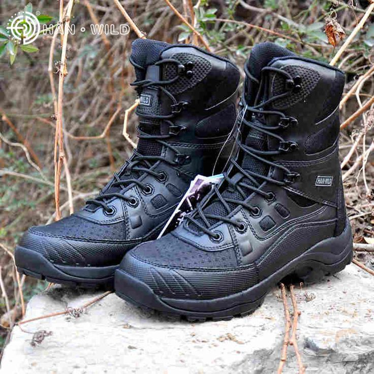 HANWILD Brand Keep Warm Breathable Wearproof Men Flock Boots Ultralight Side Ankle Protection Jungle Boot Combat Military Shoes