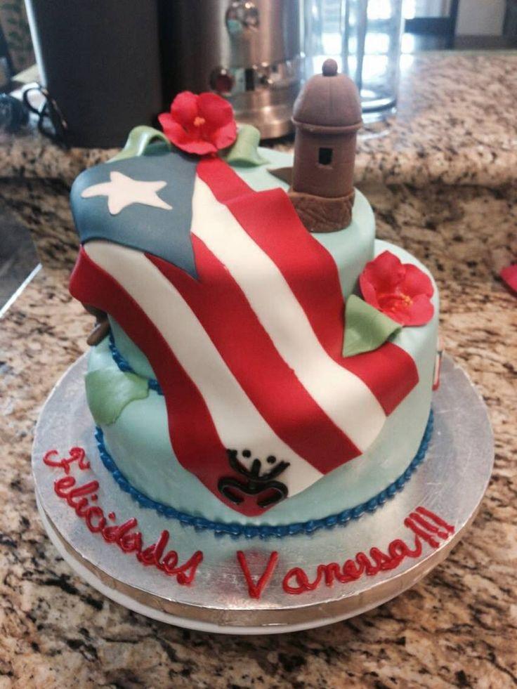 Puerto Rico theme cake.