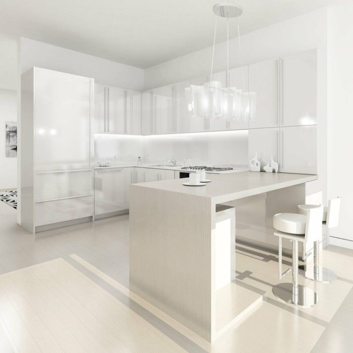 Die besten 25+ weiße Küche Backsplash Ideen auf Pinterest Weiße - k che fliesenspiegel glas