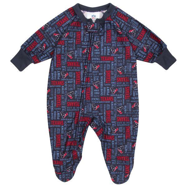 Houston Texans  Toddler Blanket Sleeper Bodysuit - Navy Blue - $14.99