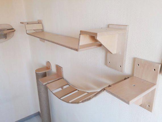 cat shelf cat shelf wall mount cat play furniture wood cat shelves rh pinterest com