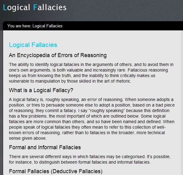 logical fallacies exercise Study the following arguments carefully then decide which of the following logical fallacies each represents here again are the remaining fallacies.
