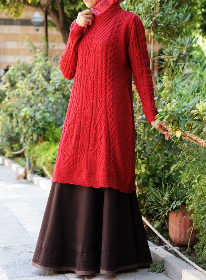 The Perfect Winter Sweater. Aran Knit Tunic from shukronline.com