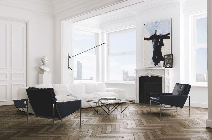 Herringbone Wood Floors Perfected - Apartment Tour:http://cococozy.com/herringbone-wood-floors-perfected-apartment-tour/