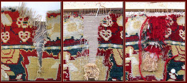 Carpets restauration , Restauration of an antique Agra carpet