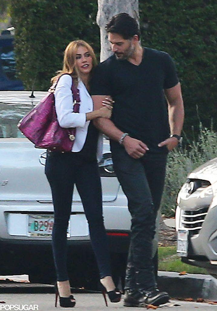 Who can blame Sofia Vergara for holding Joe Manganiello's arm like this?