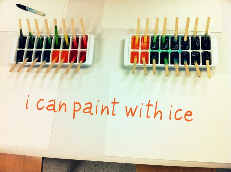 An Unpretentious Teacher: painting with ice preschool activity