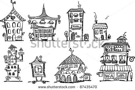 drawing of houses - Google Search