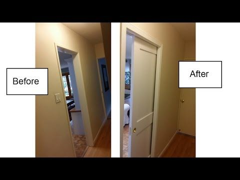 Complete Installation Of The Johnson Pocket Door And Show How To Install A Pocket  Door In Los Angeles. How To Frame For A Pocket Door.