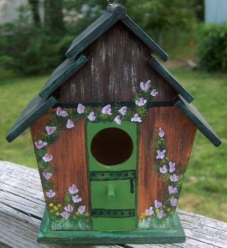 This is a Bird house I painted