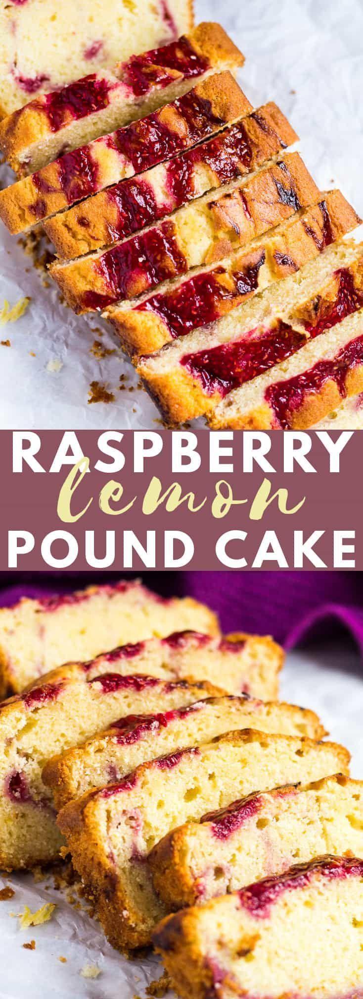 Gâteau au citron framboise Swirl – Un sac incroyablement moelleux et moelleux infusé au citron …   – Baking