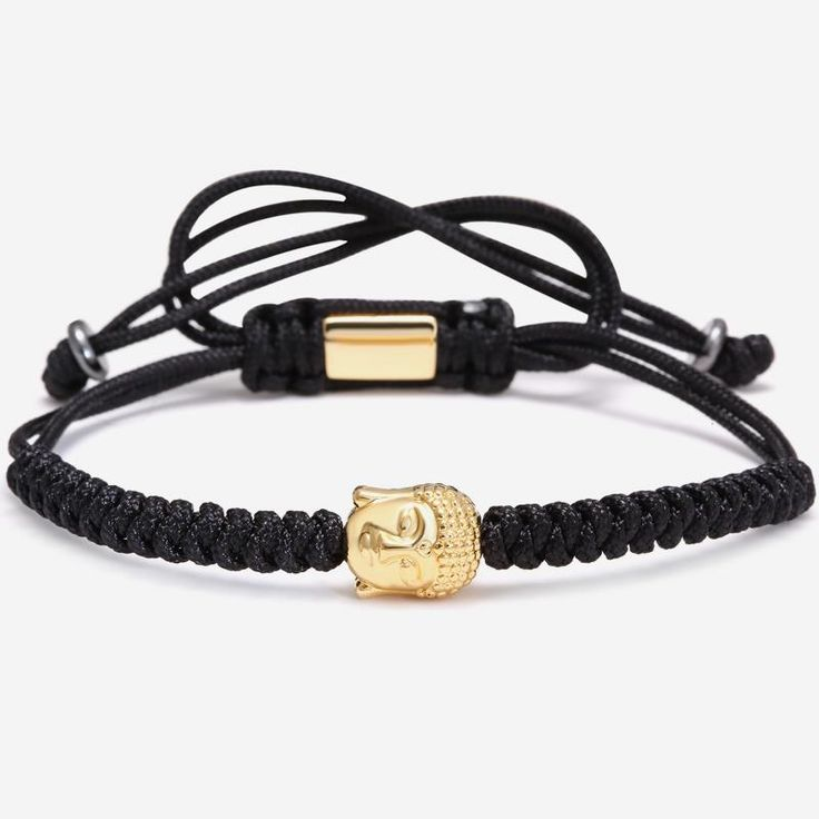 Men Bracelets,4mm 28K Gold Round Beads and Buddha Head Bead Braiding Macrame Bracelet For Men Braided Rope Friendship Bijoux Like and Share if you agree!Visit our store --->  http://www.jeujewelry.com/product/men-bracelets4mm-28k-gold-round-beads-and-buddha-head-bead-braiding-macrame-bracelet-for-men-braided-rope-friendship-bijoux/ #shop #beauty #Woman's fashion #Products #homemade