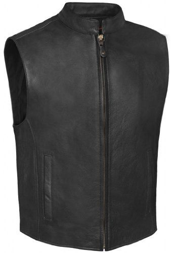 True Element Mens Zip Front, Single Back Panel, Scooter Collar Leather Motorcycle Vest (Black, Size S-5XL) http://suliaszone.com/true-element-mens-zip-front-single-back-panel-scooter-collar-leather-motorcycle-vest-black-size-s-5xl/