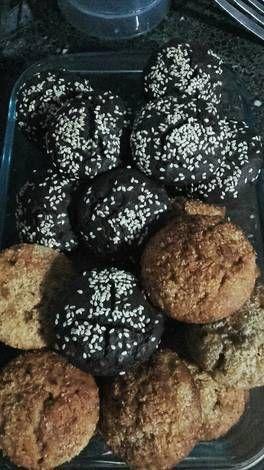 Muffins de algarroba y naranja