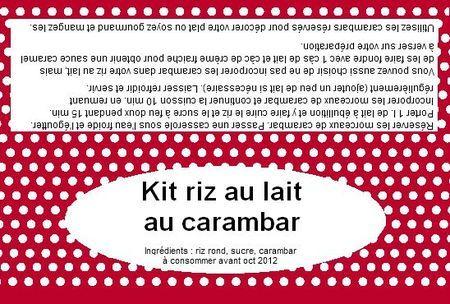 """Kit """"cadeau"""" : étiquettes + recette"""