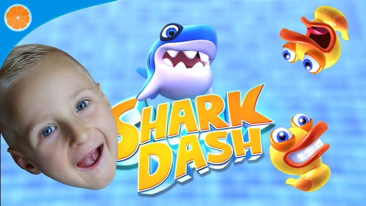 Let's play Shark Dash Game for Android iOS | level 1- 8 | Blue Orange