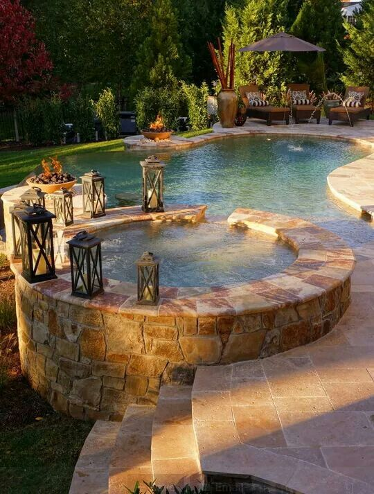 Back yard pool