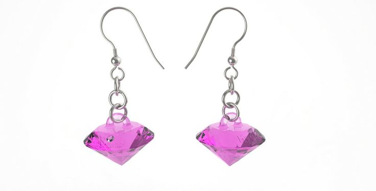 MyG earring Diamonds! Pink - 21€ #MyG #jewels #BuyNow #Pink #gift #christmasgift #top #designshape #2014