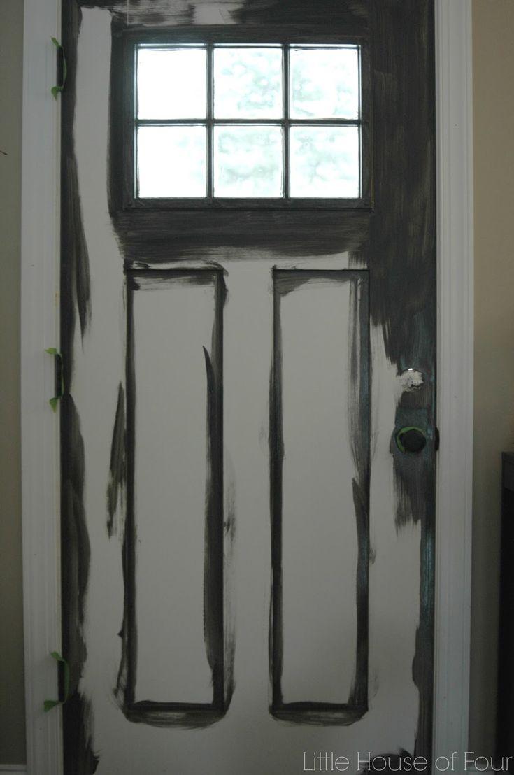 Updated front door with Sherwin William Iron Ore