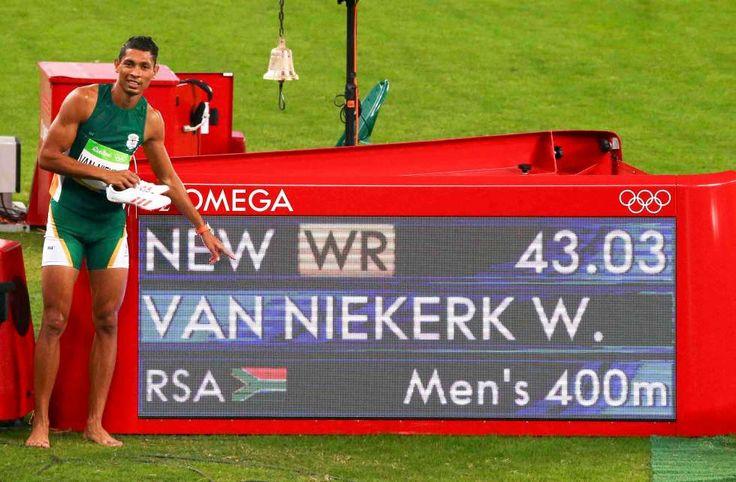 Olympia Rio 2016 > Wayde van Niekerk > Weltrekord über 400m