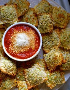 oven-toasted ravioli | ChinDeep