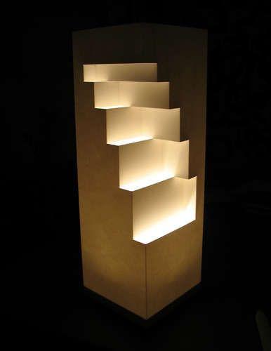 DIY Geometric Cut Paper Table Lamp: Great!