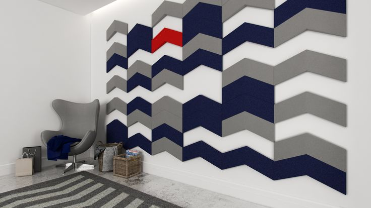 Miękkie panele ścienne 3D Fluffo, Fabryka Miękkich Ścian. Kolekcja Fluffo CHEVRON. www.fluffo.pl