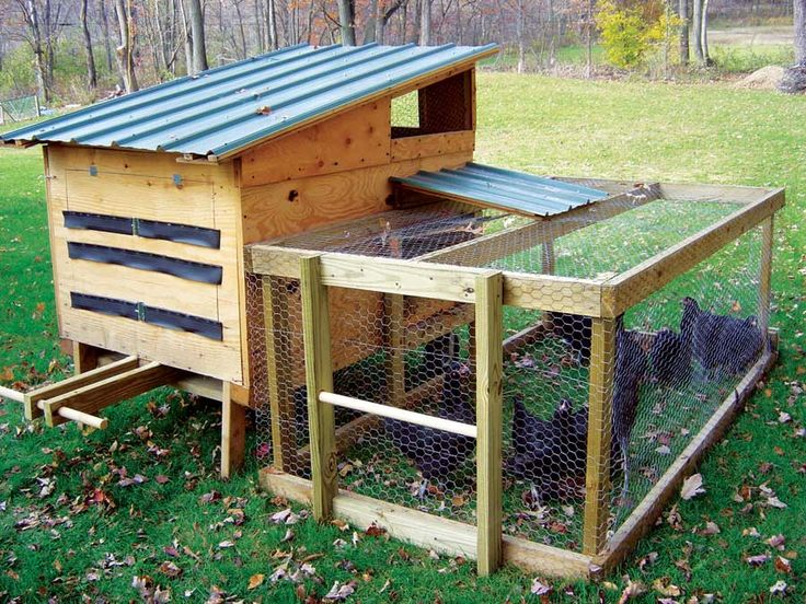 how to build a movable chicken coop