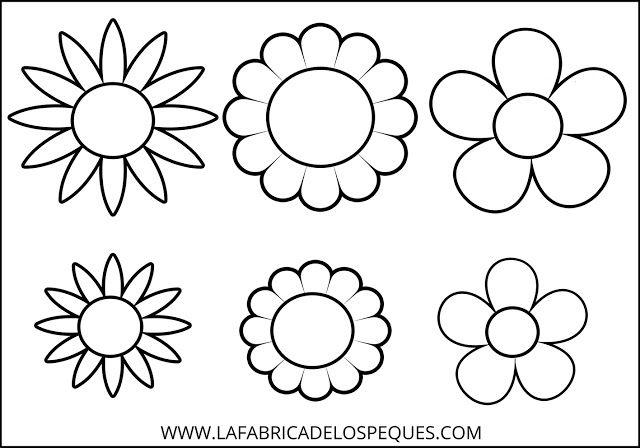 Moldes De Flores Hojas Y Tallos Para Manualidades