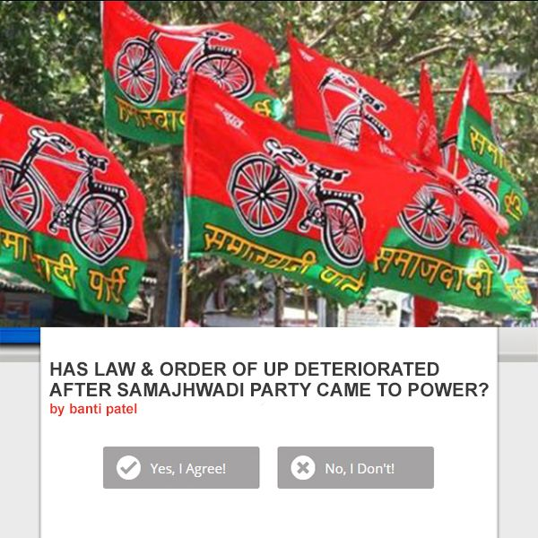 HAS #LAW & #ORDER OF UP #DETERIORATED AFTER #SAMAJHWADI #PARTY CAME TO POWER? #ShareYourOpinion www.posticker.com