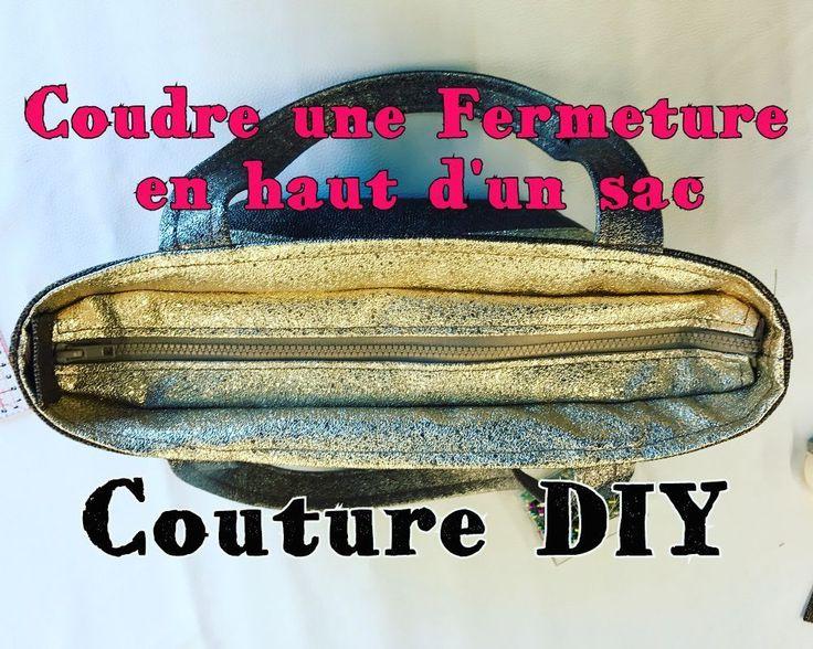 Coudre une Fermeture Intérieure en Haut d'un Sac - Tuto Couture. Gratuit, français, tuto