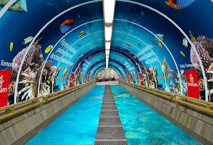 Tunel Emirates Hello Tomorrow - JCDecaux