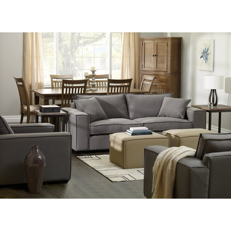 Everything about this collection breaths comfort - wide track arms, relaxed 'ragged' piping, generous loose-fill back cushions and feather seating.