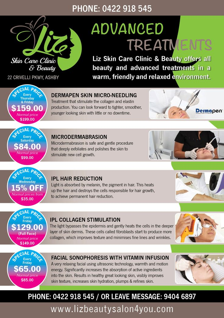 Liz Skin care & Beauty A5 Flyer ( Back)