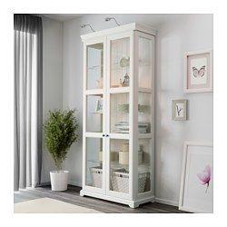 LIATORP Vitrinenschrank, weiß - 96x215 cm - IKEA