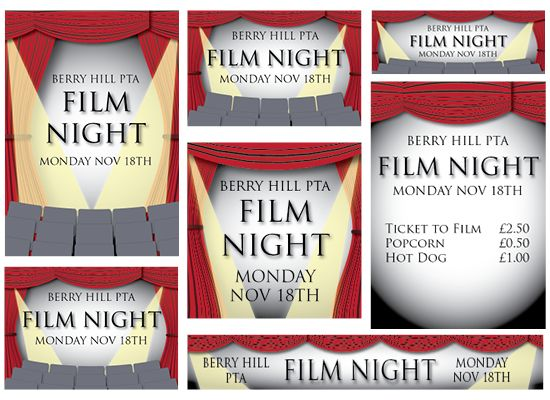 Film Night - Published PTA Templates and Poster Kits