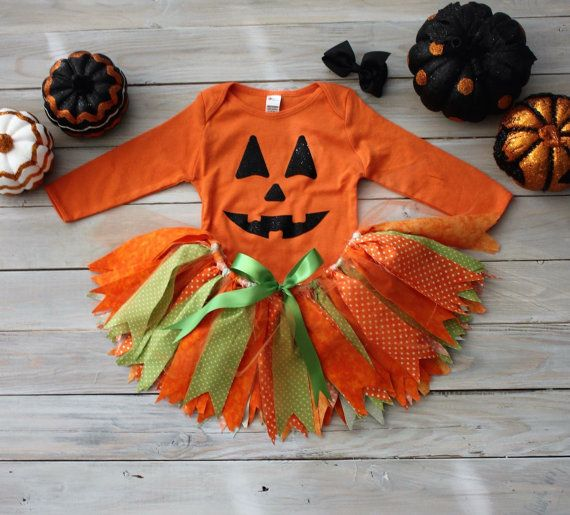 This sweet as pie, Pumpkin Tutu Costume is a show stopper! Fabric tutus are so…